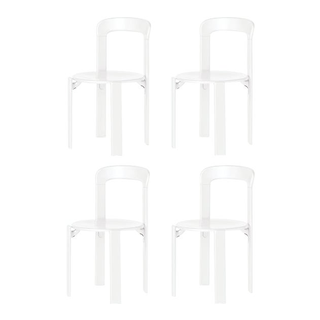 Mid-Century Modern Dietiker I Rey White Chairs - Set of 4 For Sale