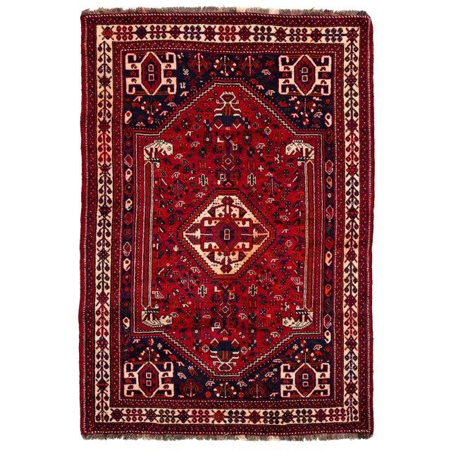 "Vintage Persian Shiraz Rug, 5'10"" X 8'7"" For Sale"