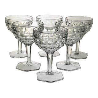 Fostoria American Clear Champagne Coupes - Set of 9 For Sale