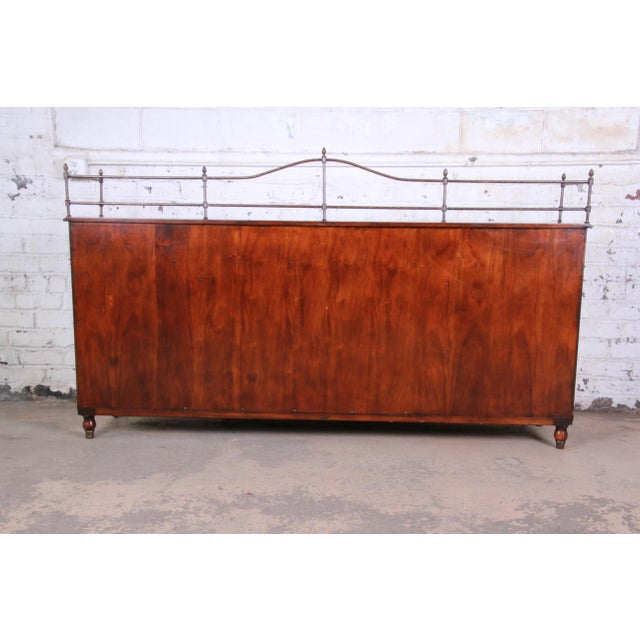 Theodore Alexander Regency Style Flame Mahogany Sideboard or Bar Cabinet For Sale - Image 11 of 13