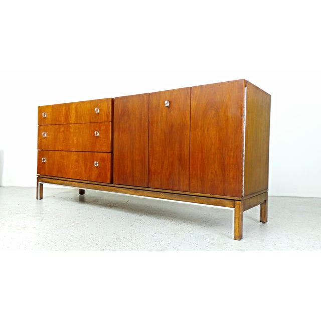 American of Martinsville Mid-Century Walnut & Chrome Dresser - Image 2 of 10