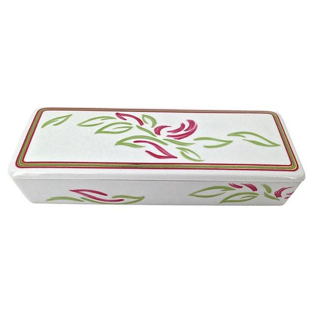 Vintage Tri-Section Box With Lid - Image 2 of 7