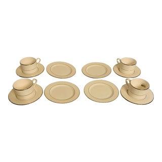 Lenox Venetian Lace Partial Tea Set - 12 Pieces For Sale