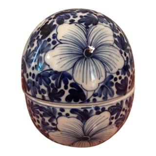 Porcelain Egg Trinket Box For Sale