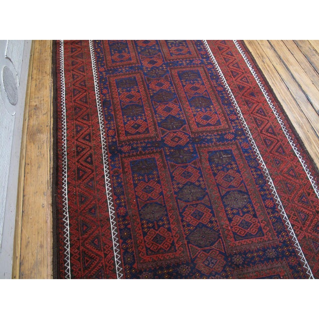 Traditional Antique Baluch Long Rug For Sale - Image 3 of 9