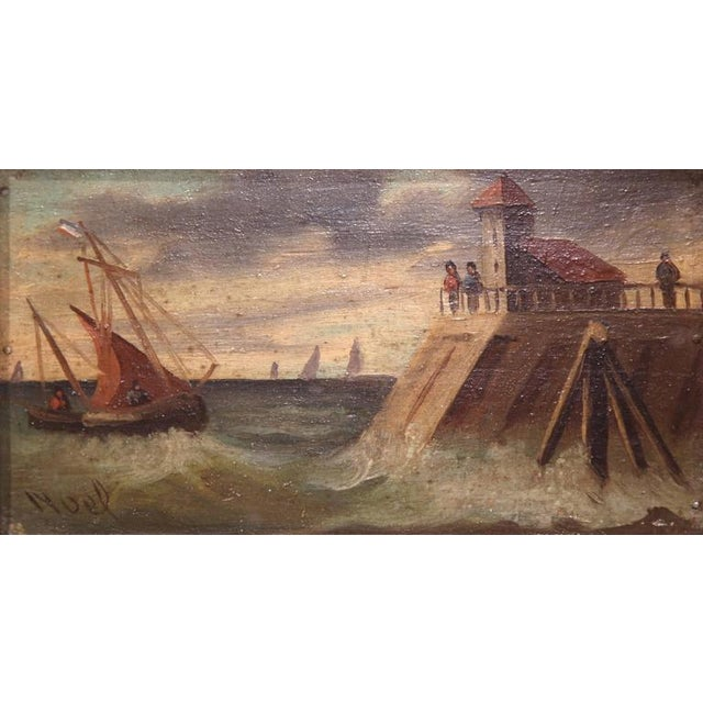 19th Century French Oil on Board Paintings - A Pair - Image 3 of 9