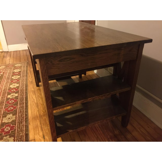 Adorable writing desk! Built-in shelves. Perfect for a steaming cup of coffee and some writing power.