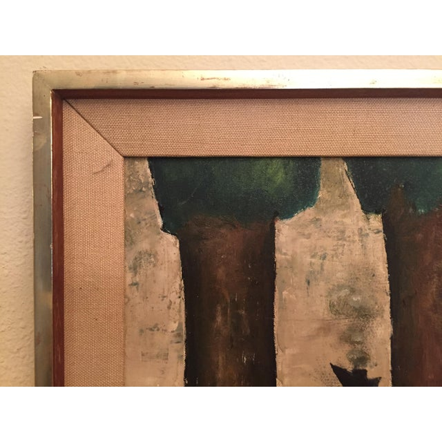 Original Mid-Century Modern Signed Oil Painting on Canvas For Sale - Image 4 of 12