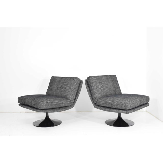 Adrian Pearsall Adrian Pearsall for Craft Associates Swivel Chairs For Sale - Image 4 of 10