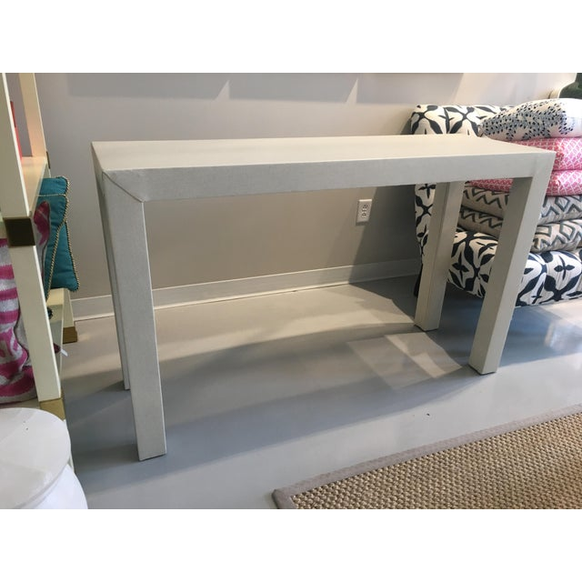Upholstered Celine Parsons Table - Image 2 of 9