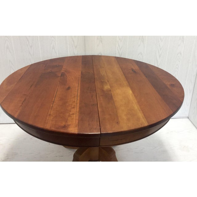Traditional Round Cherrywood Table - Image 4 of 5