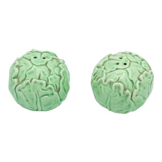 Ceramic Cabbage Salt and Pepper Shakers Made in Japan For Sale