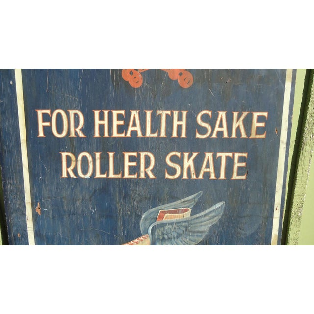 1940s Hand-Painted Roller Skating Rink Sign - Image 5 of 11