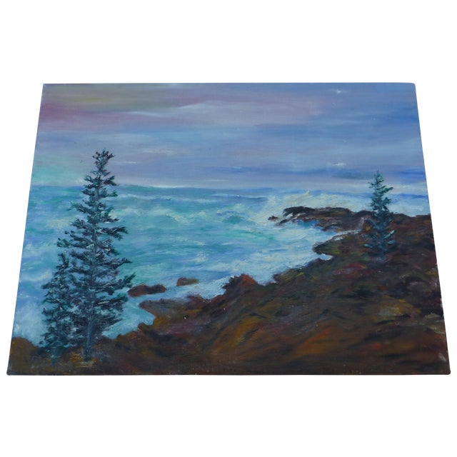 Mid Century Ocean View Painting, H.L. Musgrave - Image 1 of 6