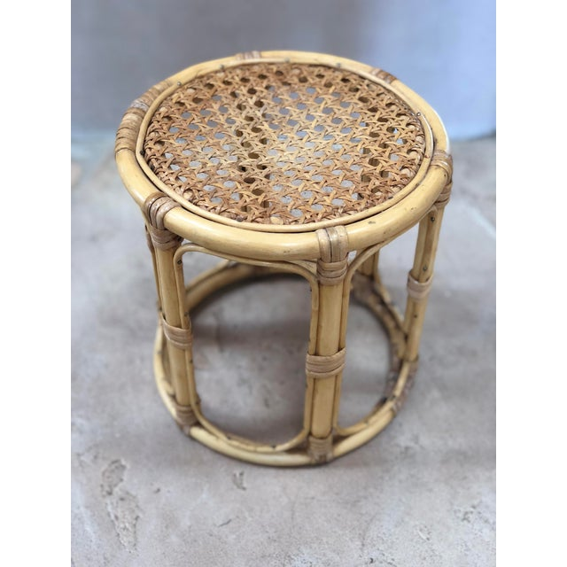 Tan Vintage Bamboo Plant Stand For Sale - Image 8 of 8