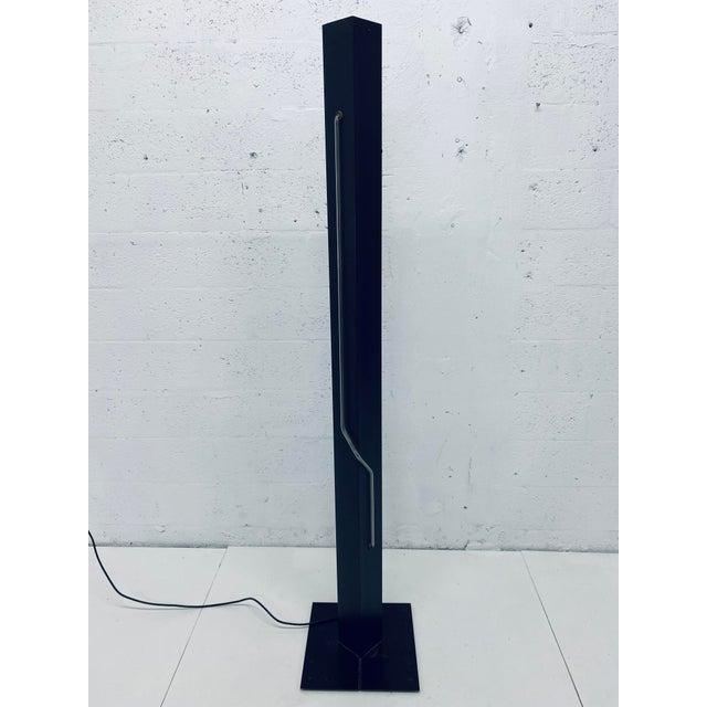 Metal Rudi Stern Postmodern Red Neon Floor Lamp for George Kovacs, 1980s For Sale - Image 7 of 13