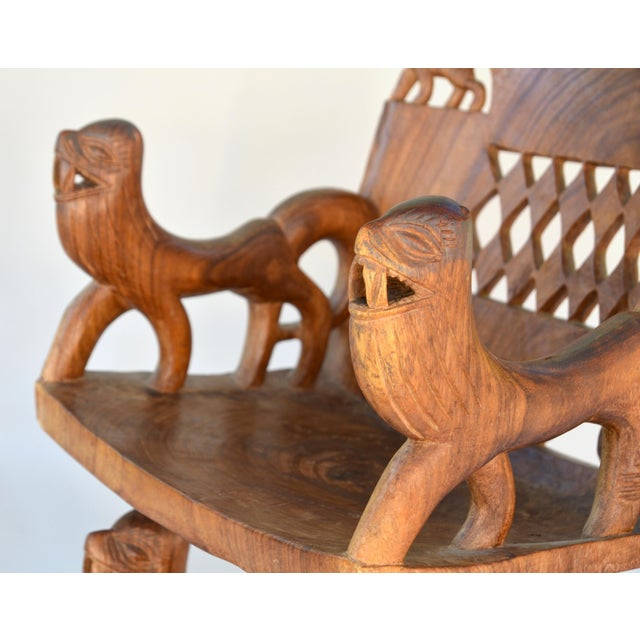 Wood African Benin Tribal Wood Chair For Sale - Image 7 of 10
