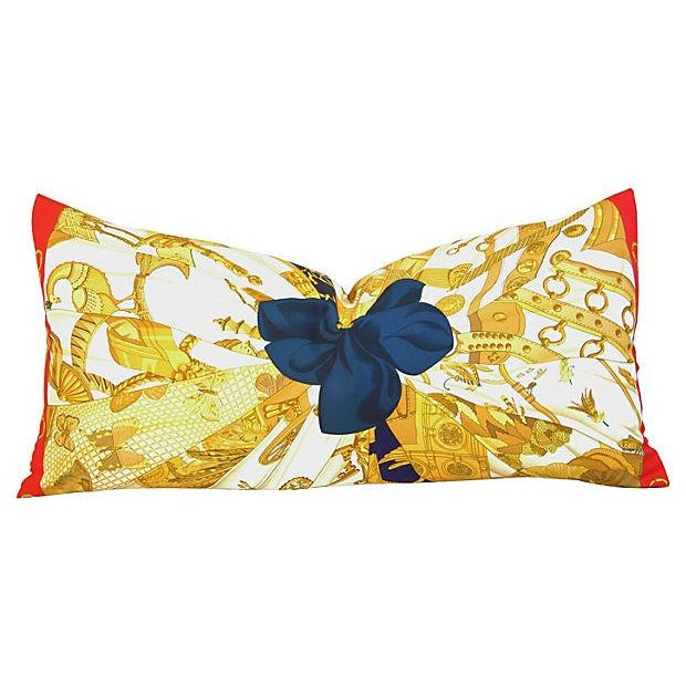"Authintic Hermes ""Caty Latham"" Silk Pillow - Image 1 of 6"