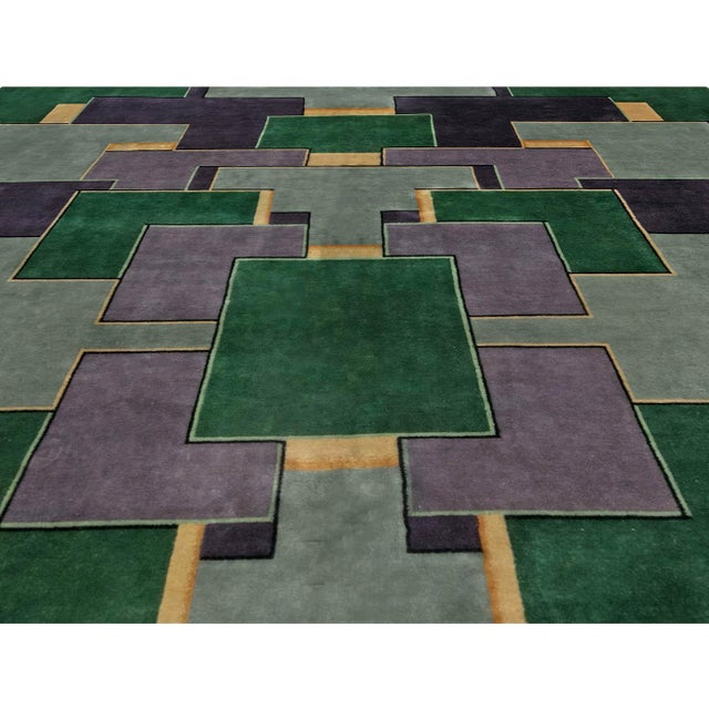 Art Deco Vintage Chinese Deco Rug For Sale - Image 3 of 9