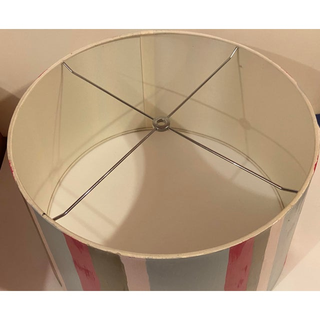 Metal Hand Painted Custom Modern Lampshade For Sale - Image 7 of 12