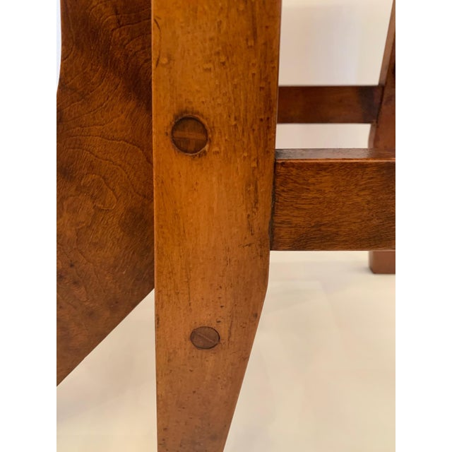 Brown Antique Birdseye Maple Library Steps For Sale - Image 8 of 13