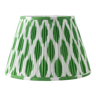 """Signature Ikat in Green 18"""" Lamp Shade, Kelly Green For Sale"""