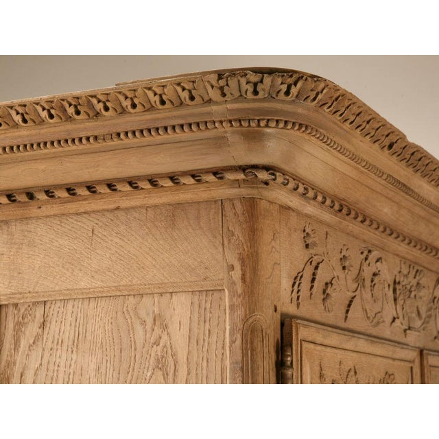 Brown 18th C. Antique French Oak Normandy Buffet For Sale - Image 8 of 10