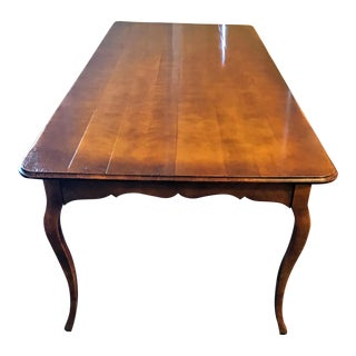 French Farmhouse Solid Wood Dining Table For Sale