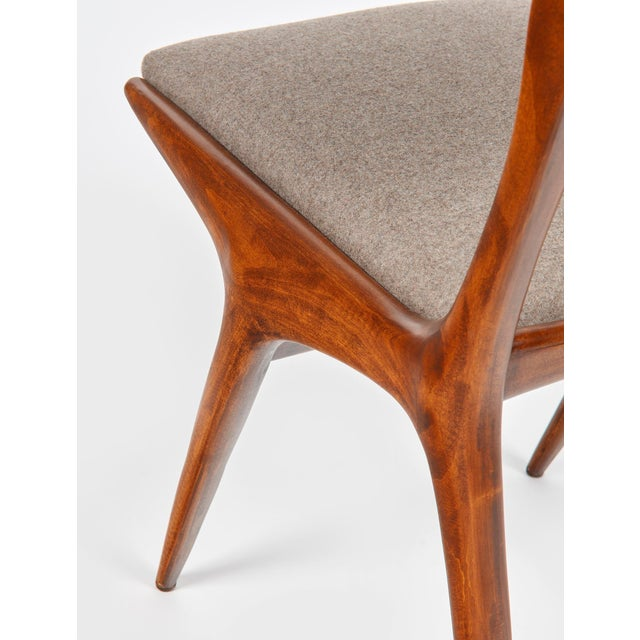 Wood Carlo De Carli Mod 158 Dining Chairs, Italy, 1953 - Set of 6 For Sale - Image 7 of 10