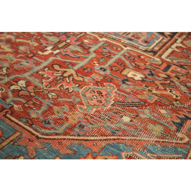 "Antique Heriz Carpet - 8'5"" X 11'3"" - Image 2 of 7"