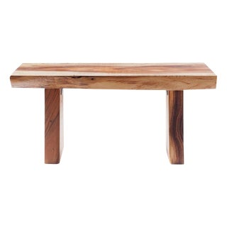 Modern Live Edge Acacia Wood Bench For Sale