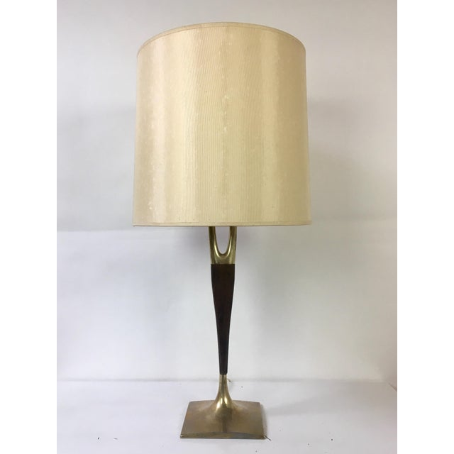 """Classic Mid-Century Modern """"Wishbone"""" table lamp by the Laurel lamp co. USA, Designed by: Gerald Thurstan circa 1960...."""