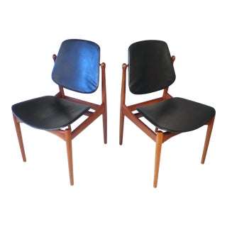 Six Arne Vodder Solid Teak Dining Chairs For Sale