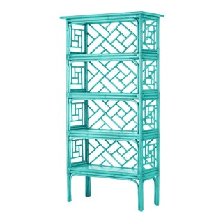 Chippendale Etagere - Turquoise For Sale