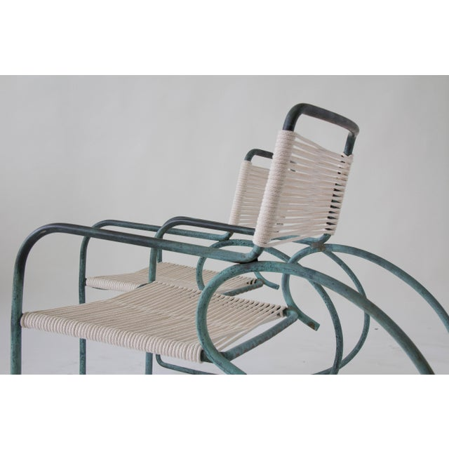 Lovely Single Walter Lamb Patio Rocking Chair for Brown Jordan | DECASO