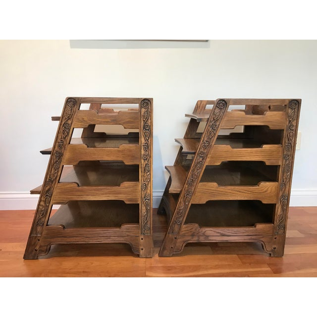 Pair Romweber Viking Oak End Table Nightstands Magazine Shelf 5712 5-950 Arts and Crafts For Sale - Image 10 of 13