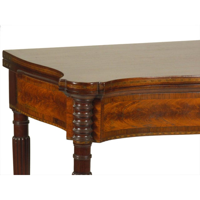 Brown Late 19th Century Federal-Style Card Tables - a Pair For Sale - Image 8 of 13