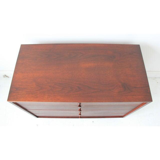 Vintage Mid-Century Modern Walnut 4-Drawer Dresser - Image 4 of 7