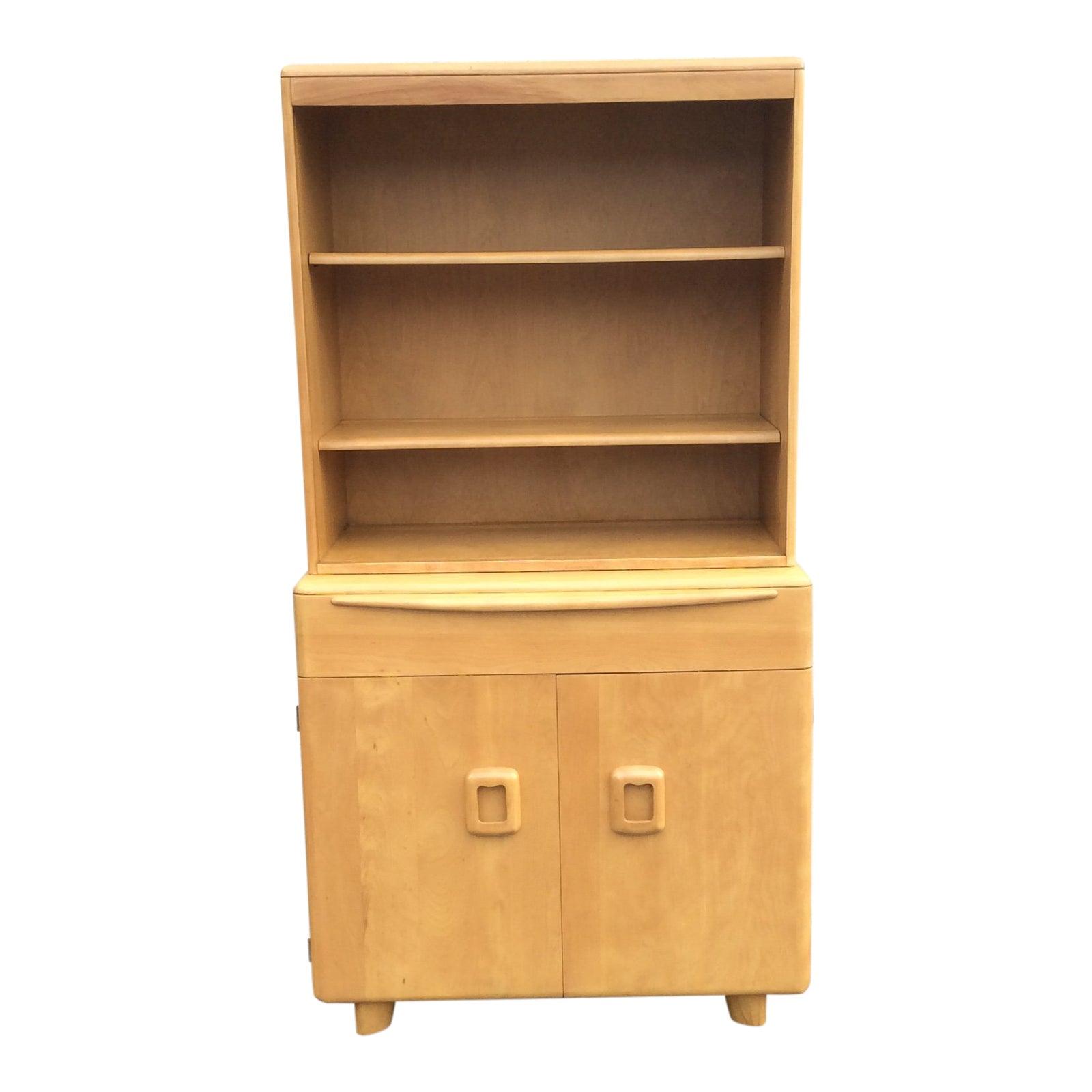 1950s mid century modern heywood wakefield china closet cabinet chairish