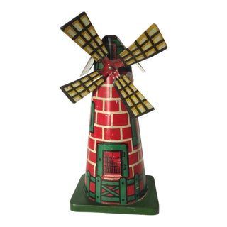 Lithographed Tin Windmill Toy