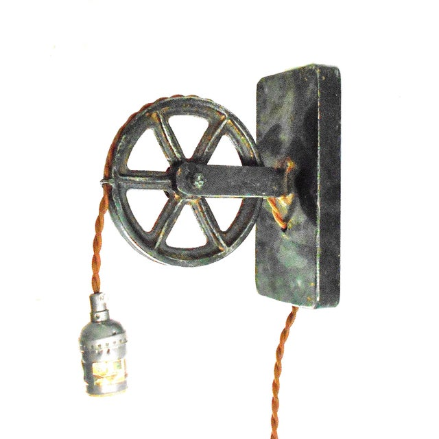 Industrial Factory Wheel Sconce Lamp – Large Size - Image 1 of 6