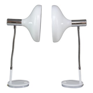 20th Century French Articulating Table Lamps - a Pair For Sale