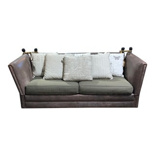 Knole Tassel Modern Sofa With Pillows For Sale