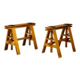 Image of Mid-Century Easel Bases for Leonardo Table by Achille Castiglioni for Zanotta - a Pair For Sale