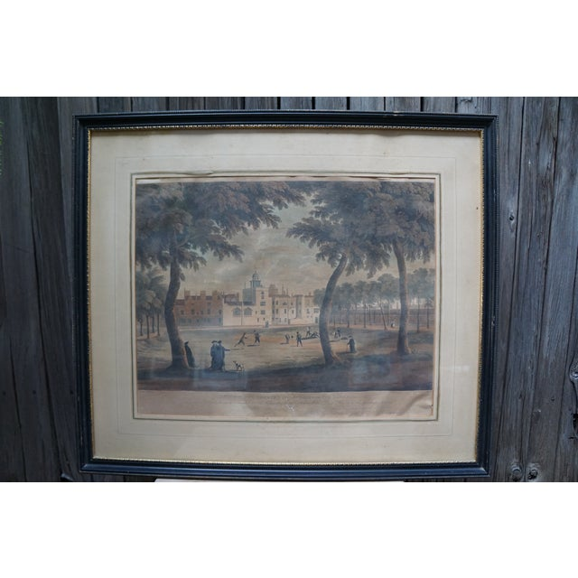 Early 20th Century Antique English Vauxhall Painted Engraving For Sale - Image 10 of 10