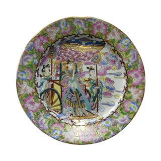 Chinese Porcelain Canton Color Heaven Queen Traveling Scene Painting Plate Preview