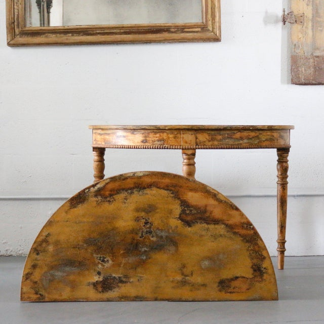 Mid-Century Modern Pair of 19th Century Demilune For Sale - Image 3 of 6