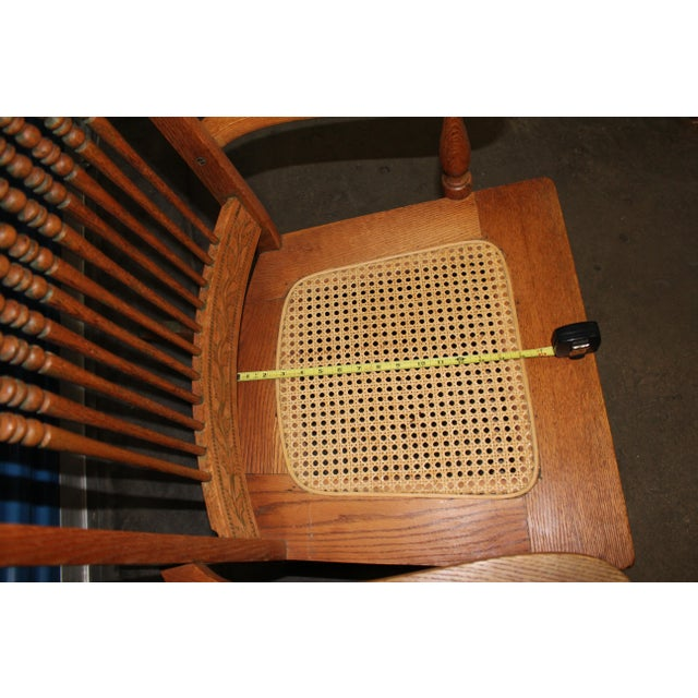 Wood Early 1900s Wood Rocking Chair For Sale - Image 7 of 9