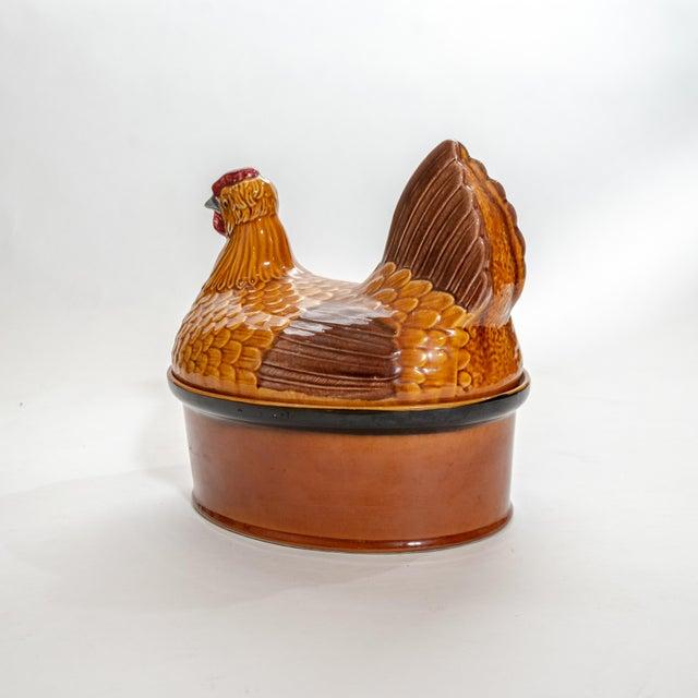 Vintage Steuler Keramik Large Nesting Hen Casserole Covered Dish For Sale - Image 11 of 13