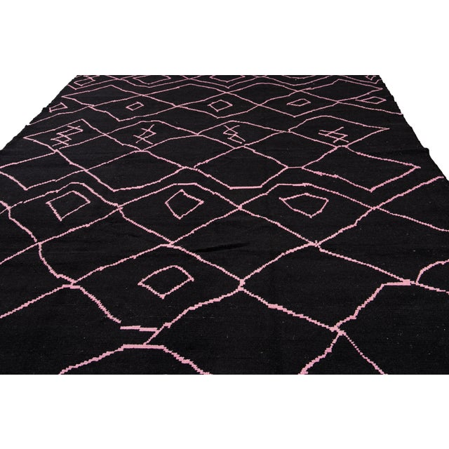 21st Century Modern Moroccan-Style Wool Rug For Sale - Image 11 of 13